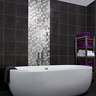 Ice Leaf Glass/Metal Mix Modular Mosaic