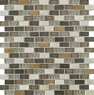 New York Beige Glass/Stone Mix Mini Brick Mosaic 15x30mm