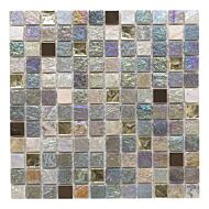 Iridescent Glass/Stone Mix Mosaic 23x23mm