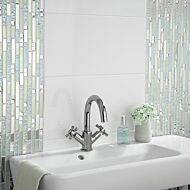 Lush Pearlescent Glass, Metal & Mirror Mix Random Mosaic
