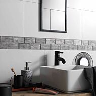 Horizon Silver Wood Effect Glass Brick Mosaic 48x98mm