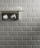 Metro Light Grey Wall Tile 100x200mm
