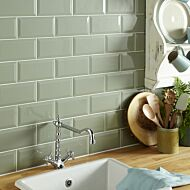 Metro Sage Ceramic Wall 100x200mm