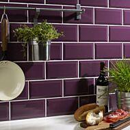 Metro Plum Wall Tile 100x200mm