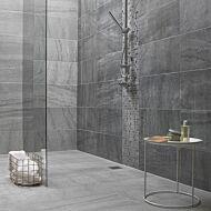 Kenyan Grey Glass/Stone Mix Mosaic 23x23mm