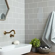 Central Light Grey Ceramic Wall Tile 100x200mm