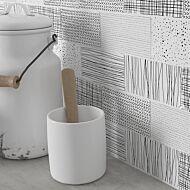 Crafted Handmade B&W Wall Decors 75x150mm