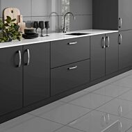 Space Grey Glazed Porcelain W&F 300x600mm