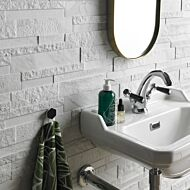 Marmi White Porcelain Splitface 160x394mm
