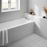 Ingleton White Matt 250x500mm Ceramic Structured Décor Wall Tile