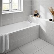 Ingleton White Matt 250x500mm Ceramic Structured Décor Wall Tile
