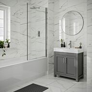 Lulworth White Gloss 250x500mm Ceramic Wall Tile
