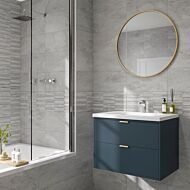Blakeley Grey Matt 250x500mm Ceramic Structured Décor Wall Tile