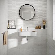 Blakeley White Matt 250x500mm Ceramic Structured Décor Wall Tile