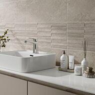 Blakeley Ivory Matt 250x500mm Ceramic Structured Décor Wall Tile