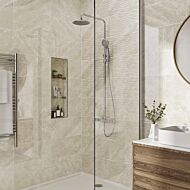 Skye Ivory Gloss 250x500mm Ceramic Structured Décor Wall Tile