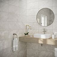 Skye Grey Gloss 250x500mm Ceramic Structured Décor Wall Tile