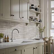 Snowdon Silver Matt Ceramic Structured Décor Wall 250x500mm (NEW)