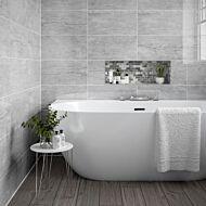 Pallington Light Grey Gloss 250x500mm Ceramic Wall Tile