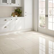 Seaboard Ivory Glazed Polished Porcelain Wall & Floor Tile 600x600mm