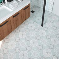 Ribera Aqua 450x450mm with Metro White