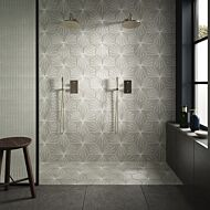 Sunburst Grey Porcelain Hexagon Wall & Floor Tiles