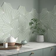 Sunburst Mint Glazed Porcelain Wall & Floor Tiles