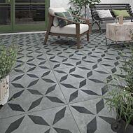P11184 Welford Geometric Grey Tile 600x600x20mm