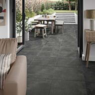 P11203 Welford Anthracite Porcelain Tile 595x595x10mm
