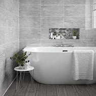 Pallington Light Grey Ceramic Wall 250x500mm with Galloway Grey