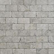 Silver Shadow Grey Tumbled Marble W&F 75x152mm