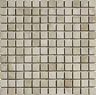 Vanilla Cream Tumbled Marble Mosaic 23x23mm