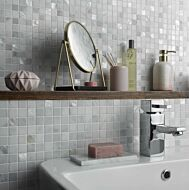 Bari White Marble & Mother of Pearl Mosaic 2 x 2cm