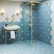 Sunburst Sea Blue Porcelain Hexagon Wall & Floor Tiles