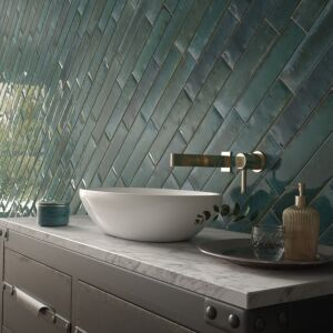 Hope Blue 75x300mm Ceramic Wall Tiles