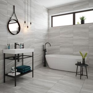 Voyage Grey Porcelain 300x600mm Wall & Floor Tile