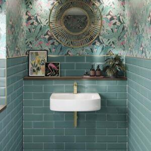 P11538 Metro Turquoise Ceramic Wall Tile 100x300mm