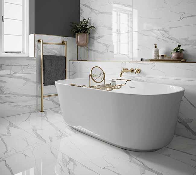 Kendal Bianco Glazed Porcelain 60x120